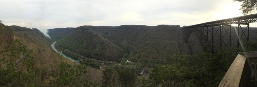 April 2014 fire in New River Gorge