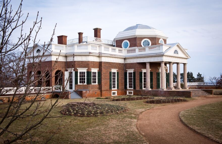 Thomas Jefferson's Monticello estate photographed in 2014.