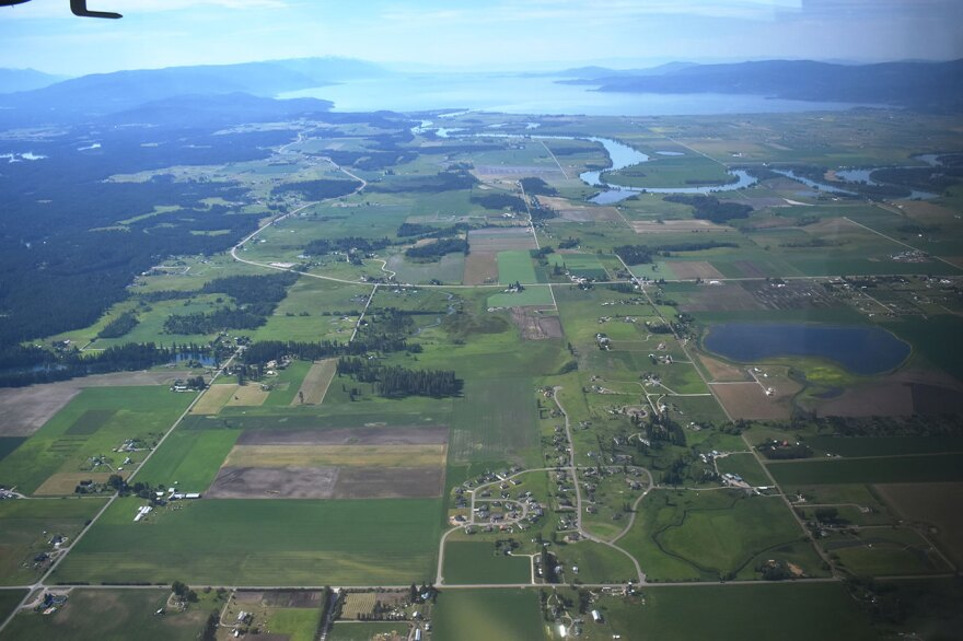 Montana's Flathead Valley from above.
