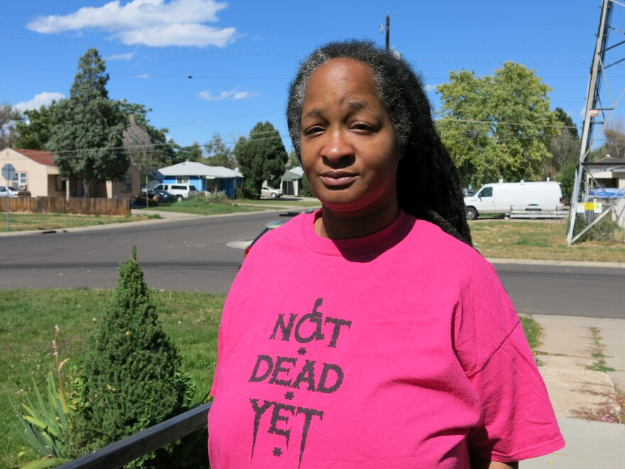 """Anita Cameron, a board member of the group """"Not Dead Yet,"""" opposes Proposition 106."""