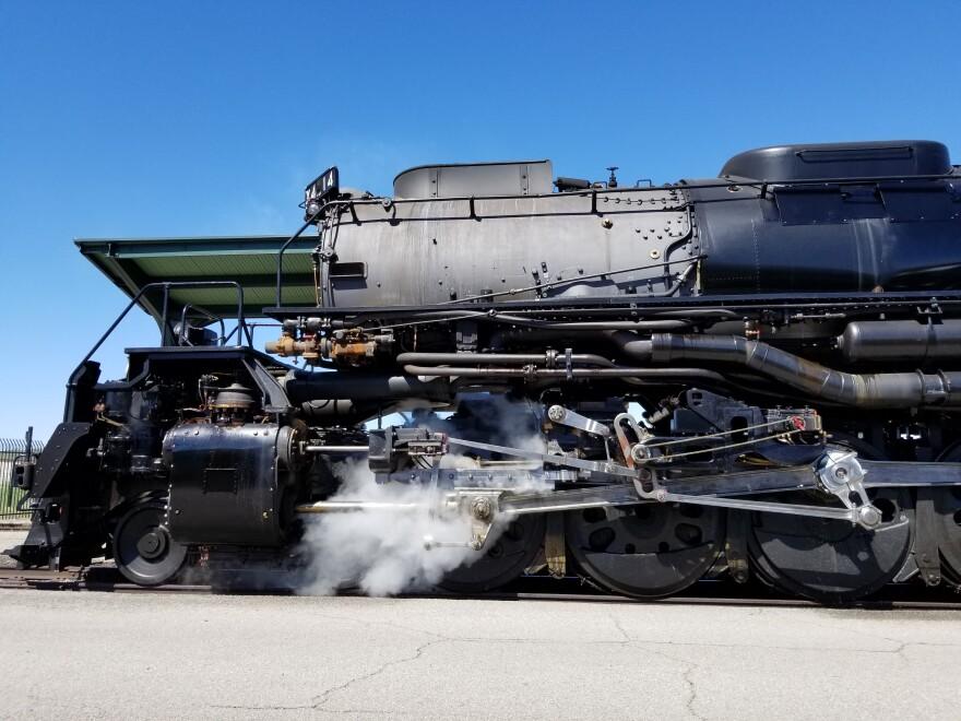 Photo of big boy engine.