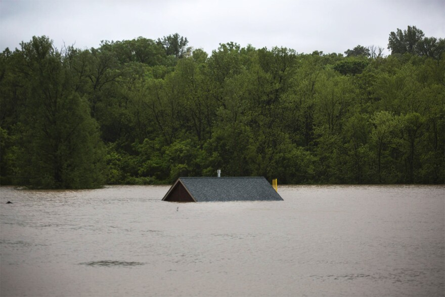 Floodwaters along the Meramec River in May 2017 inundated areas on the Eureka High School Campus, as seen in this file photo.