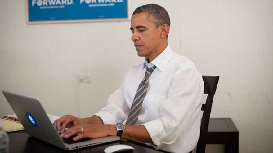 President Obama posted this photo on Twitter and Reddit to prove that he was participating in Wednesday's online chat. Some users weren't quite convinced.