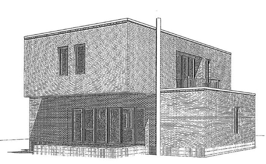A preliminary drawing of a home design by noted Mexico City architect Tatiana Bilbao. [8/26/19]