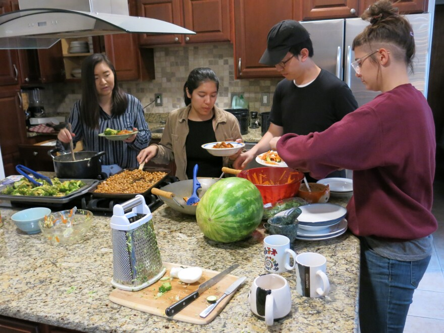"""Sunrise Movement has so-called """"movement houses"""" in key swing states like Pennsylvania and Michigan. Activists live, work and eat together in places like this West Philadelphia row home."""