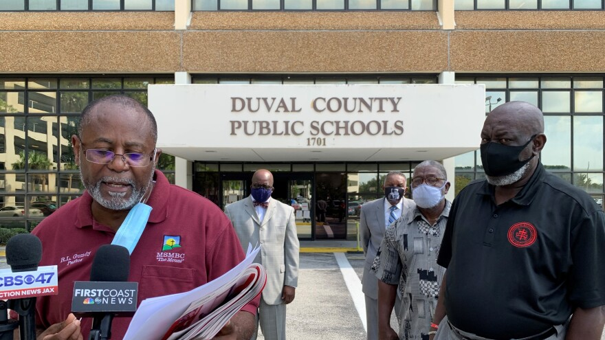 Pastor RL Gundy speaking out against Duval Public Schools reopening this week, alongside other Jacksonville Church leaders.