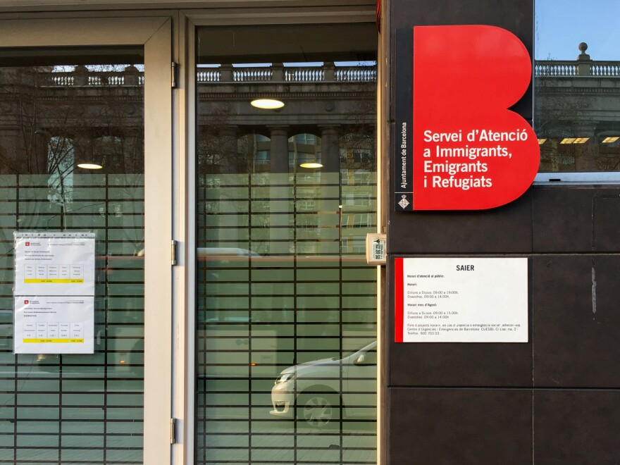 Barcelona's immigrant and refugee services center connects people with social workers and provides them with information to apply for asylum. About 54,000 people applied for asylum in Spain in 2018, with roughly 19,000 of them from Venezuela.