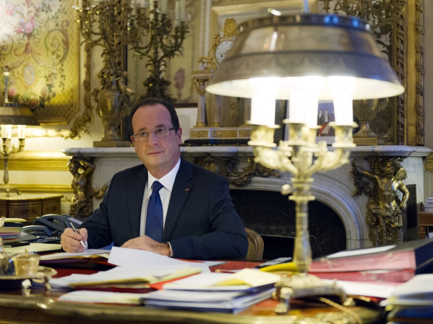 """France's President Francois Hollande. His predecessor, Nicolas Sarkozy, reportedly thinks he's """"a ridiculous little fat man."""""""