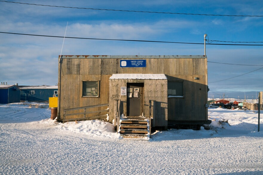 The U.S. Post Office in Toksook Bay.