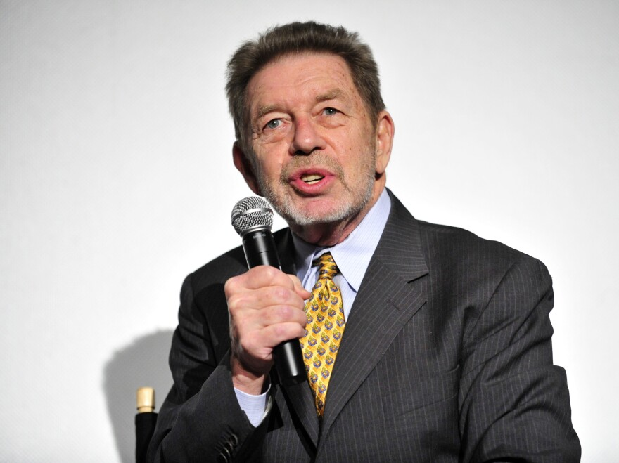 "Author Pete Hamill attends the Tribeca & ESPN Present the premiere Of ""Muhammad And Larry"" at Clearview Chelsea Cinemas on October 19, 2009 in New York City."