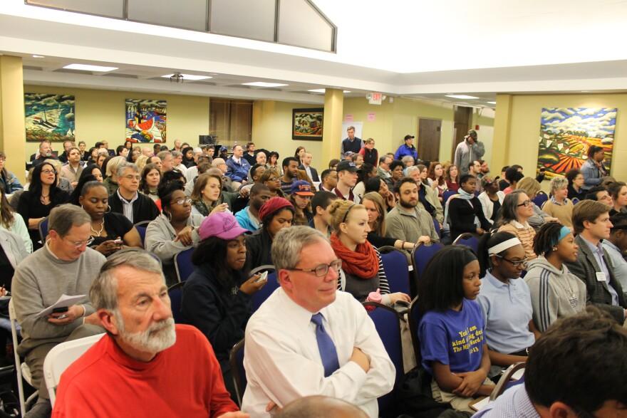 Monday's meeting filled up St. Louis University's Il Monastero.