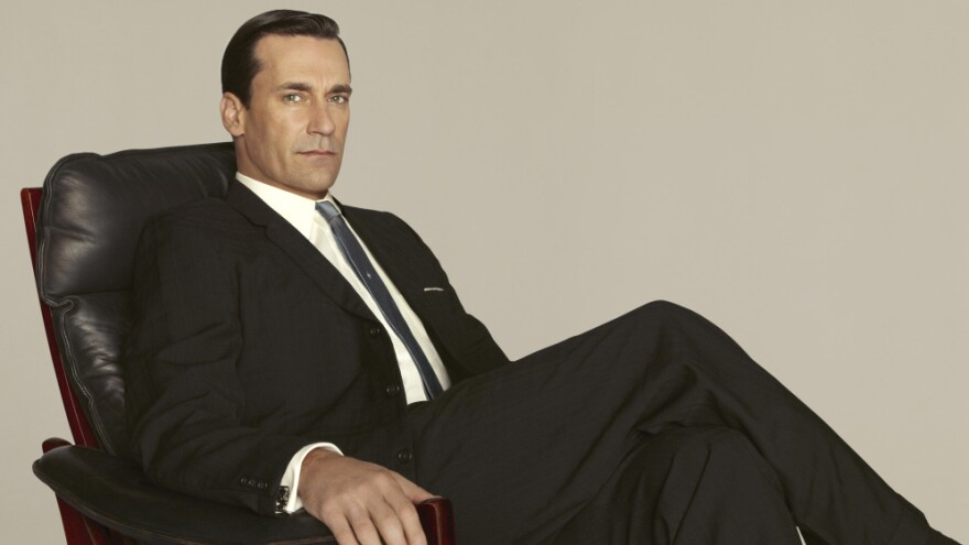 Don Draper, played by Jon Hamm, celebrates his 40th birthday in the fifth season of <em>Mad Men</em>.