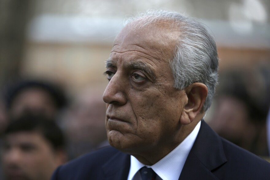 Washington's peace envoy, Zalmay Khalilzad, attends the inauguration ceremony for Afghan President Ashraf Ghani at the presidential palace in Kabul, Afghanistan, on March 9.