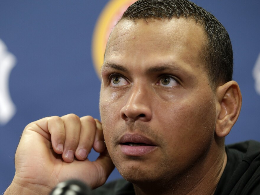 New York Yankees third baseman Alex Rodriguez.