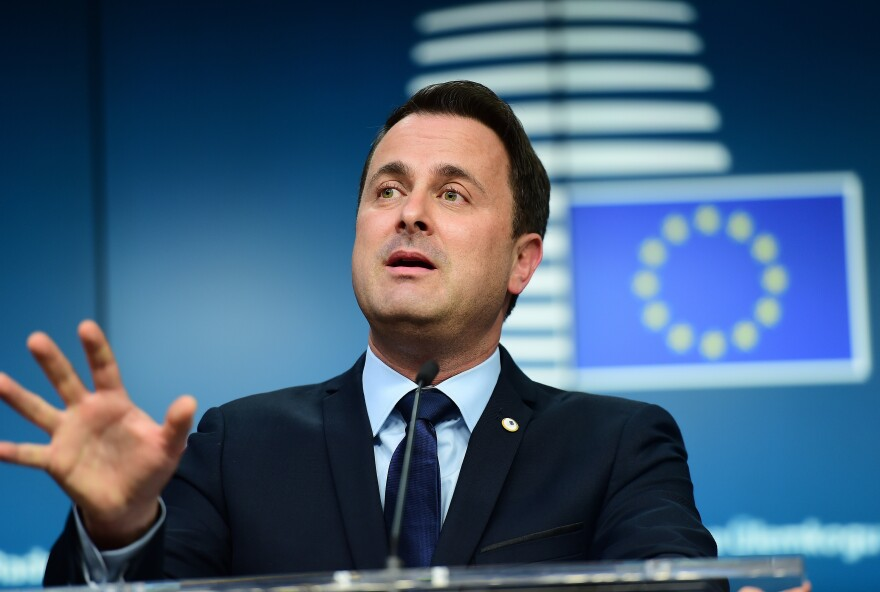 "Luxembourg's Prime Minister Xavier Bettel, shown here at a European Union summit in Brussels in December, warns that if the European Union makes too many concessions to Britain, it will weaken European integration. ""It's not a menu, a la carte, where you choose what you want to stay in the European Union,"" he says."
