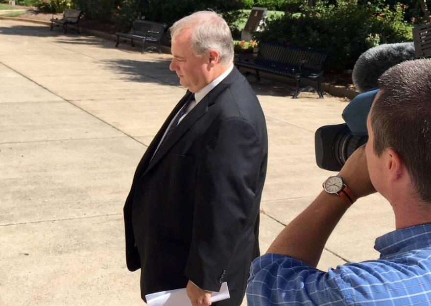 Wayne Parker, former headmaster of SouthLake Christian Academy in Huntersville, walks into the Charles R. Jonas Federal Courthouse on July 28, 2016.