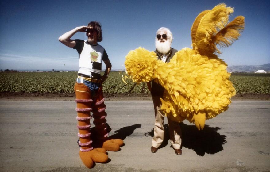 The documentary <em>I Am Big Bird </em>tells<em> </em>the story of<em> </em>Caroll Spinney (left), who has been the man inside the yellow suit for more than 40 years.