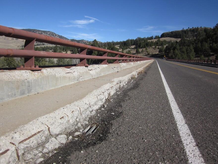 A closeup of the bridge taken on October 24, 2017.
