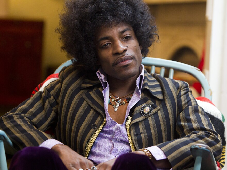 André Benjamin plays Jimi Hendrix in the new film <em>Jimi: All Is By My Side</em>.