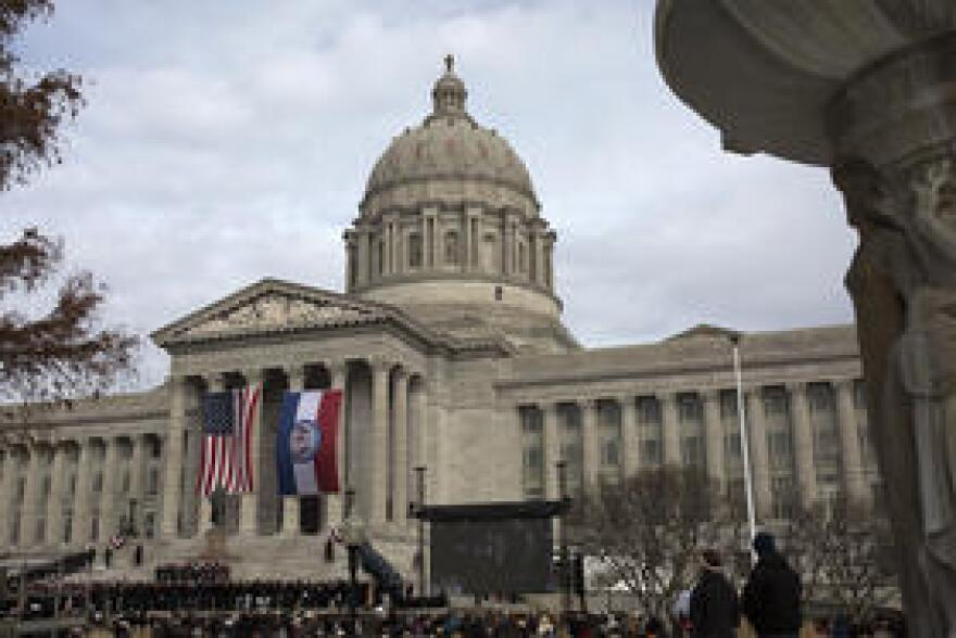 Attendees pack the south lawn of the Missouri State Capitol for the inaugural program on Jan. 9, 2017.