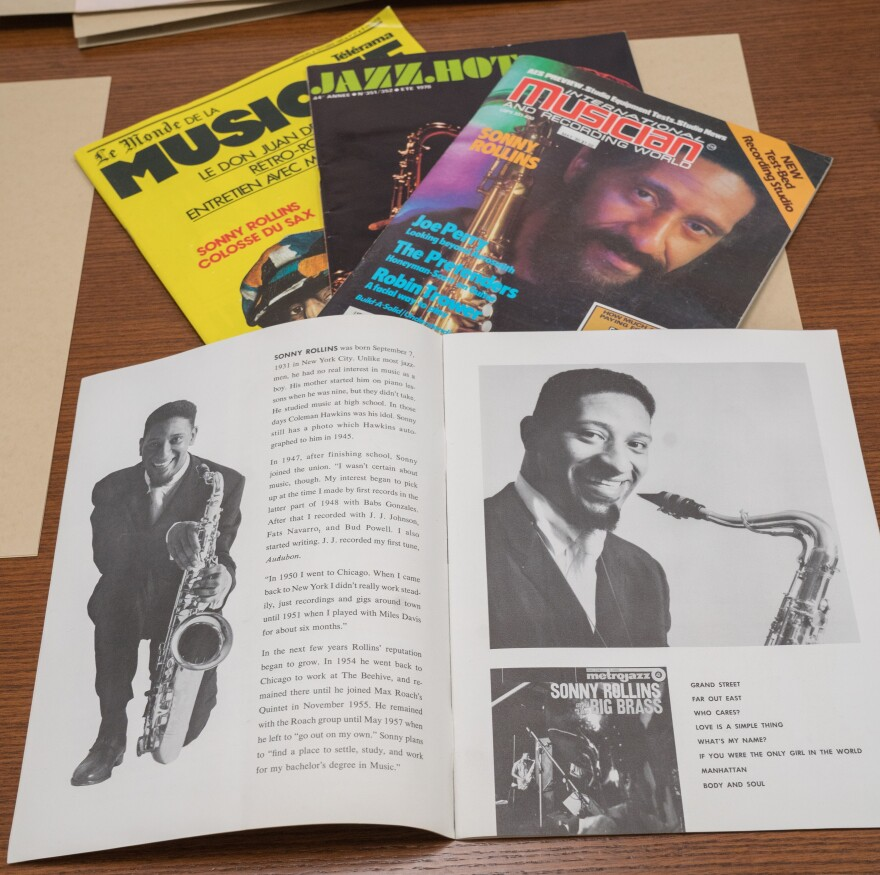 Selections from Sonny Rollins' archive.