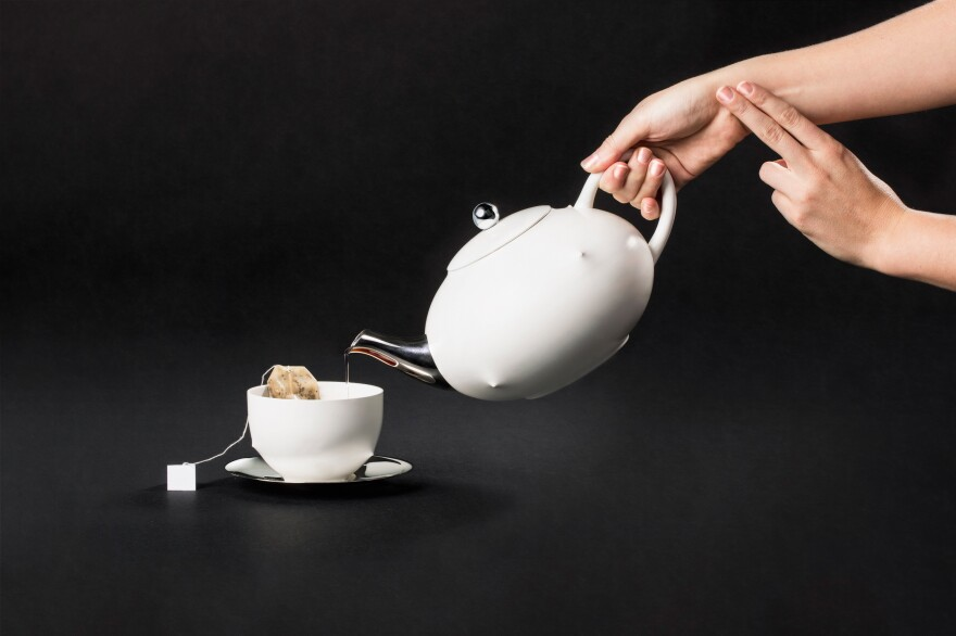 """The creators of the Playful Self tea set believe that """"in the future, biometric data will only become more ubiquitous."""" And your tea set could become one of the devices gathering data. Project by: Alex Rothera & Jimmy Krahe. Tea set design: Pascal Hien."""
