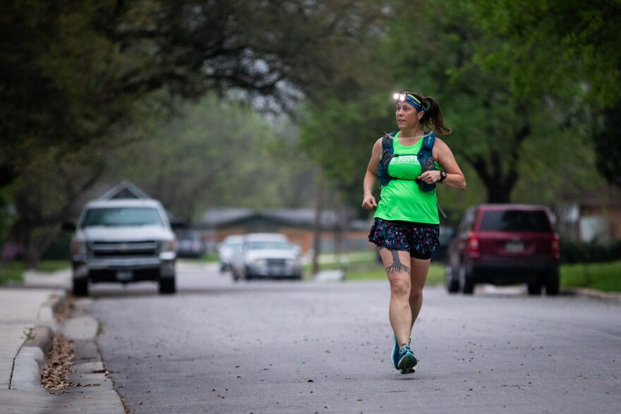 Windsor Park resident CC Rowe uses her regular runs now to perform drop-offs and pick-ups of items for her neighbors that are self-isolating to protect themselves from the coronavirus pandemic.