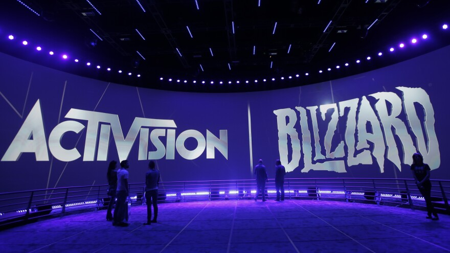 The Activision Blizzard Booth during the Electronic Entertainment Expo in Los Angeles.