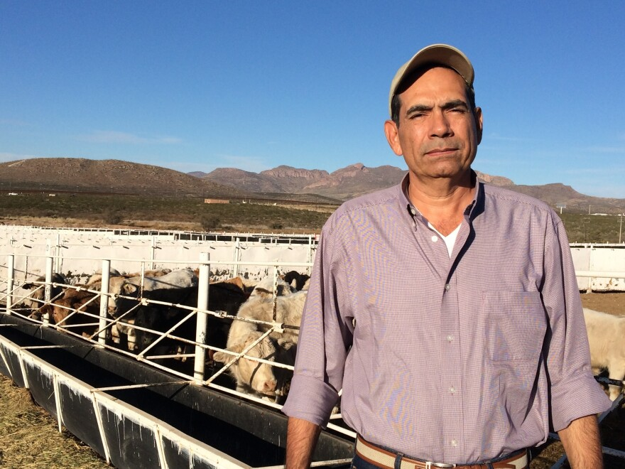 Juan Carlos Ochoa runs an Arizona-based cattle import business and says two U.S. banks have closed his business's bank account.