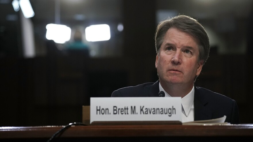 Supreme Court nominee Judge Brett Kavanaugh testifies before the Senate Judiciary Committee on Sept. 6, the third day of his Supreme Court confirmation hearing.