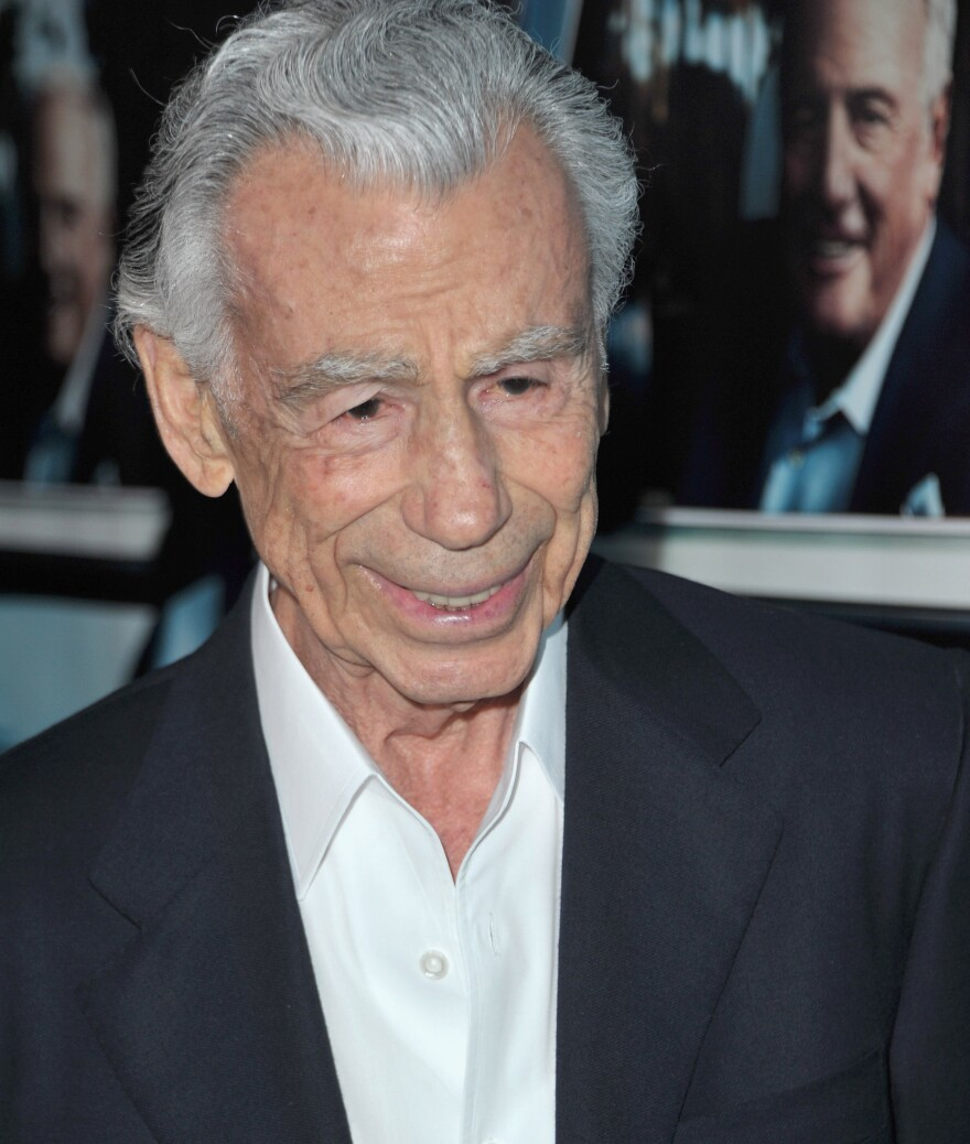 Kirk Kerkorian arrives at the premiere of the HBO documentary <em>His Way</em> in Hollywood, Calif., in 2011. The billionaire helped revitalize the Las Vegas Strip.