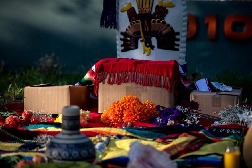 A ceremonial altar