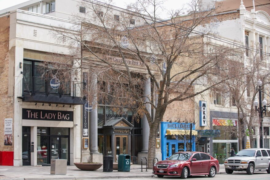 Photo of storefronts in downtown Salt Lake City