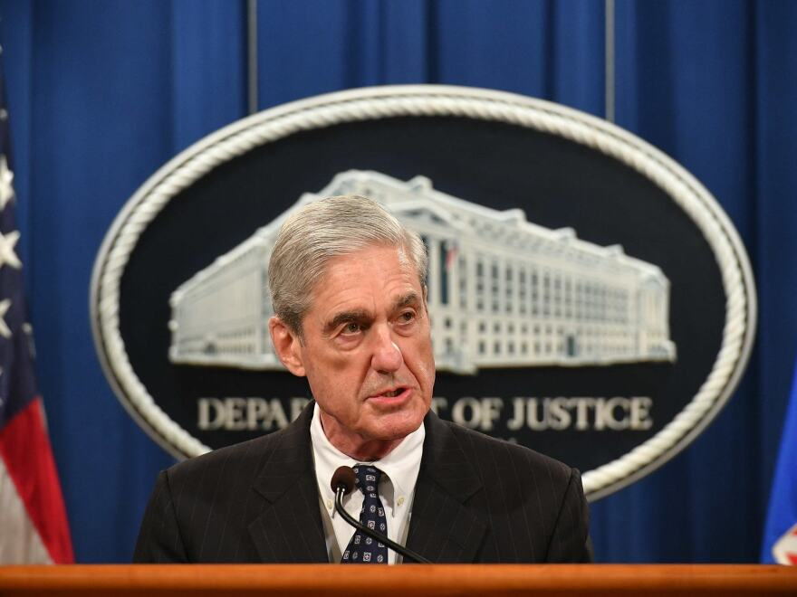 Special counsel Robert Mueller speaks about the investigation into Russian interference in the 2016 presidential election, at the Justice Department on Wednesday.