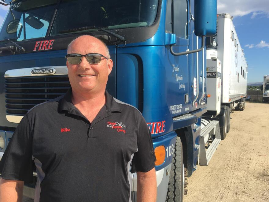 Mike Kramer has been catering for wildfire crews for more than three decades.