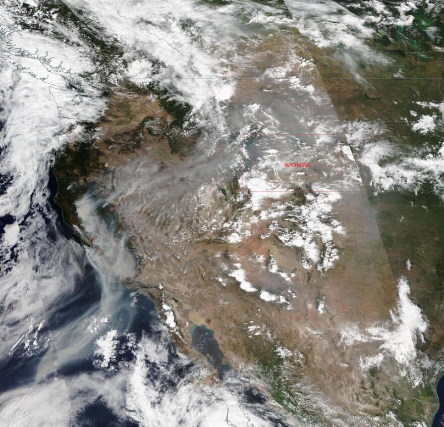 TERRA earth observation satellite view of the western USA