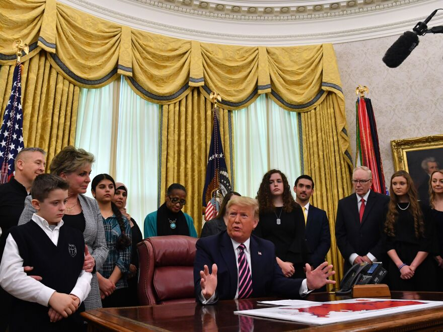 President Trump used the power of his office to remind public schools they risk losing federal funds if they violate their students' rights to religious expression.