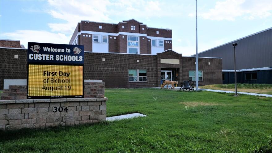 Front of Custer Schools
