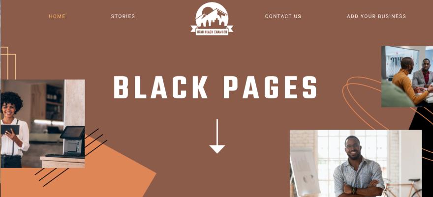 Screenshot of the Utah Black Pages website