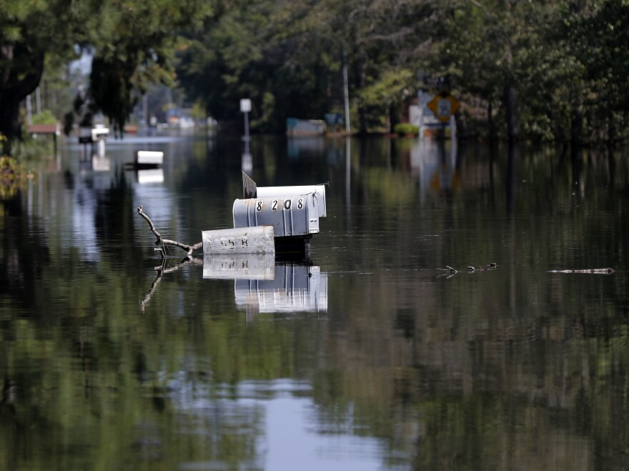 Hurricane Florence flooded Nichols, S.C., in September 2018. It was the second catastrophic flood in the region in less than two years.