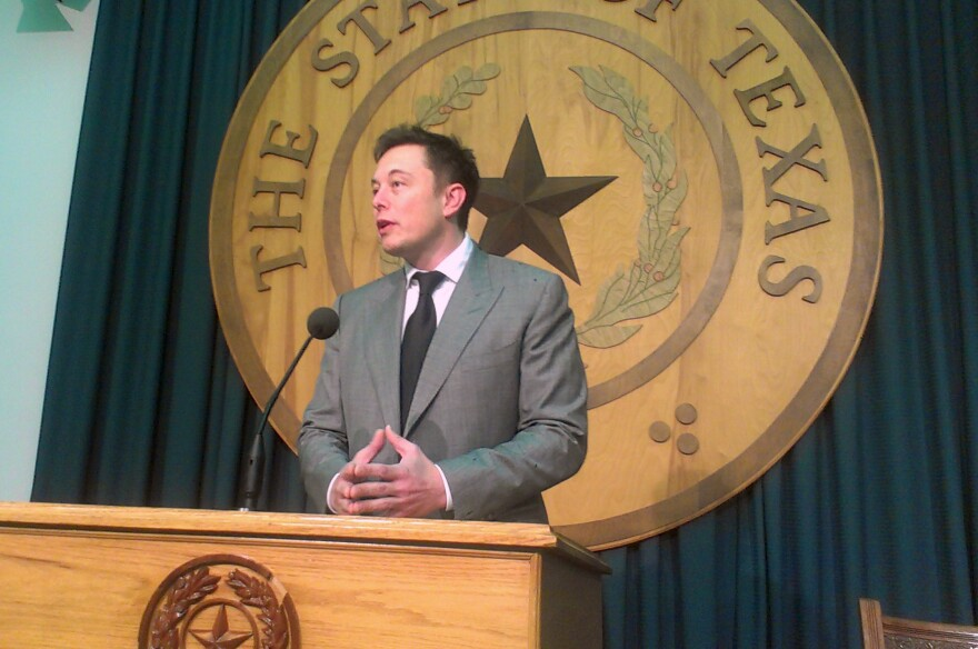 Tesla and SpaceX founder Elon Musk at the Texas State Capitol.