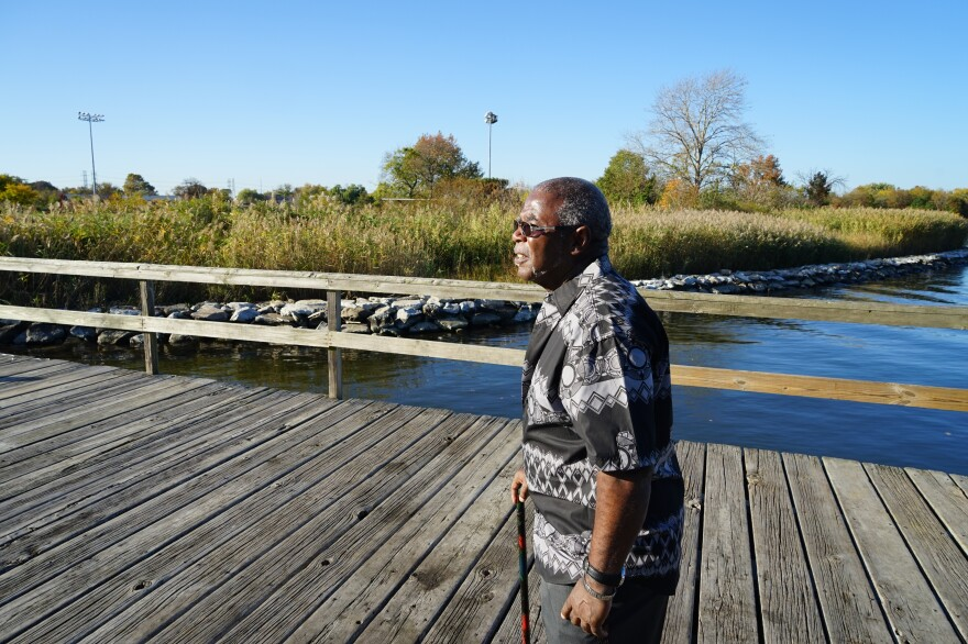 Larry Bannerman is part of a community team that's trying to prepare Turner Station for the impacts of rising seas.