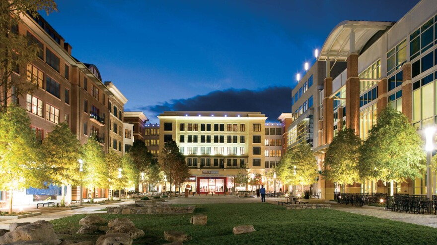 """New transit-oriented, mixed-use walkable downtowns, like<a href=""""http://www.wdgarch.com/portfolio/projects/rockville-town-square"""" target=""""_blank""""> this one in Rockville, Md.</a>, are often replacing indoor shopping malls and strip malls that once defined suburban America."""