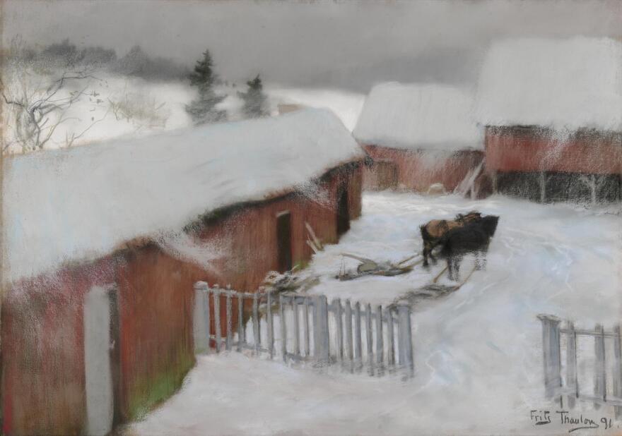 Frits Thaulow, <em>Farmyard in the Snow</em>, 1891