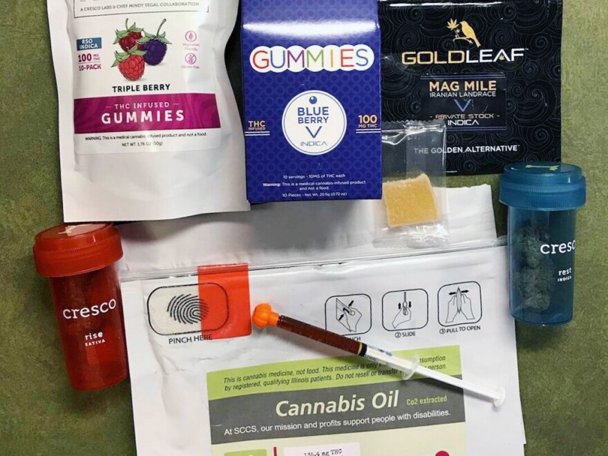 Lenkart purchased a selection of products at a cannabis dispensary in Illinois to try to help manage symptoms of chemotherapy.