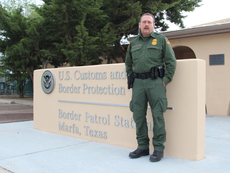 "Border Patrol agent Mike Shelton. ""The Border Patrol doesn't want to admit that things like this are going on,"" he says, ""but the reality of the situation is it does."""