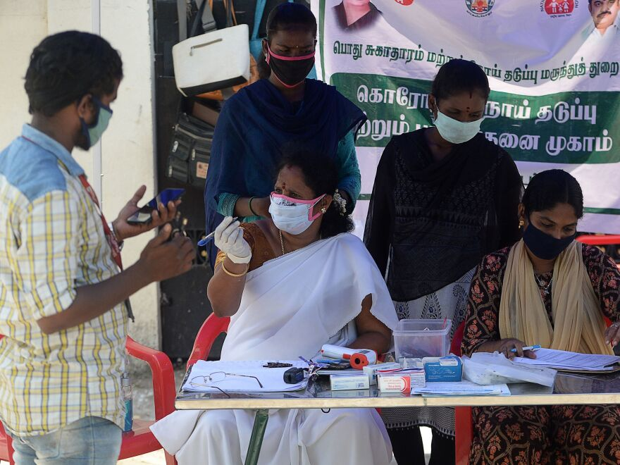 "<a href=""https://coronavirus.jhu.edu/region/india"">India</a> recorded<a href=""https://coronavirus.jhu.edu/region/india""> 78,761</a> new coronavirus cases on Saturday, pushing the global total past 25 million."