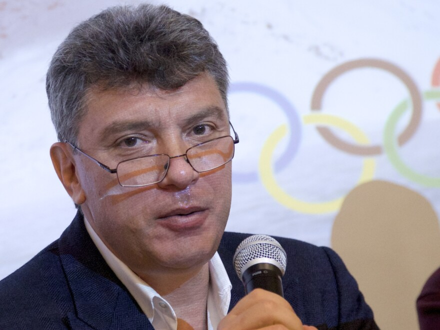 Russian opposition leader Boris Nemtsov, photographed in 2014, was killed in Moscow the next year. On Thursday, five Chechens were found guilty in the murder.