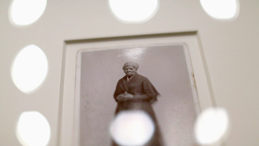 A photograph of escaped slave abolitionist Harriet Tubman is was displayed on Capitol Hill last year.