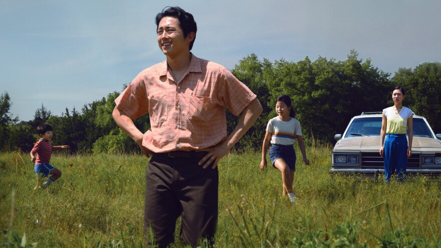 Jacob (Steven Yeun) moves his family from California to farm in rural Arkansas in <em>Minari</em>.